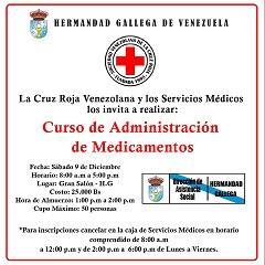 Curso de administración de medicamentos, en la Hermandad Gallega de Venezuela