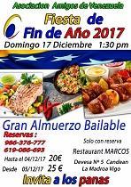 Fin de Ano 2017 da Asociación Amigos de Venezuela - Vigo