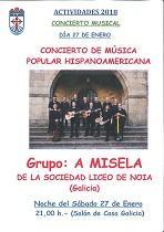 Concerto de A Misela, na Casa de Galicia en León
