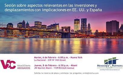 Sesión sobre desprazamentos e tributación para emigrantes españois/las nos Estados Unidos, en Miami