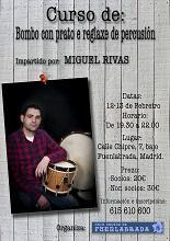 Curso de bombo con plato e y reglaje de percusión, en la Casa Galega de Fuenlabrada