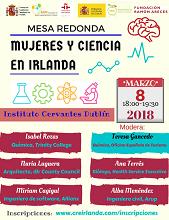 Mesa redonda 'Mujeres y ciencia en Irlanda', en Dublín
