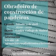 Obradoiro de construción de pandeiros, en Madrid