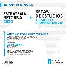 Xornada informativa Bolsas Excelencia Mocidade Exterior - BEME & Estratexia Retorna 2020, en México