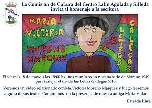 Día das Letras Galegas 2018, no Centro Lalín, Agolada e Silleda de Bos Aires