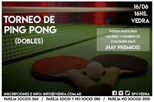 Torneo de ping-pong 2018 da Sociedad Parroquial de Vedra en Bos Aires