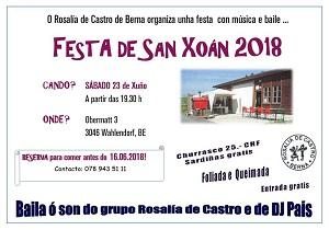 San Xoán 2018 da Asociación 'Rosalía de Castro' de Berna