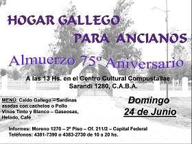 75º Aniversario del Hogar Gallego para Ancianos de Buenos Aires