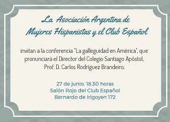 Conferencia de Carlos Brandeiro «La galleguidad en América», en Bos Aires