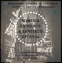 Romaría do Santiago Apóstolo 2018, en Caracas