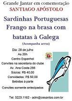 Sardiñada de Santiago Apóstolo, en Santos
