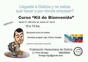 """Curso """"Kit de benvida"""" da Federación de Venezolanos en Galicia, en Vigo"""