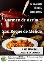 Fiesta del Carmen de Arzúa y San Roque de Melide 2018, en Buenos Aires