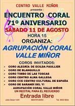 Encuentro coral 71º aniversario del Val Miñor de Montevideo