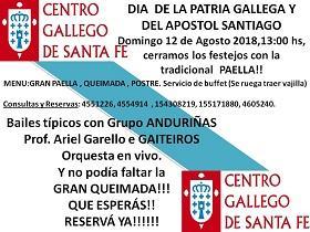 Día da Patria Galega e Santiago Apóstolo 2018, en Santa Fe