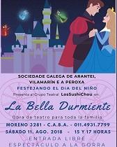 'La Bella Durmiente', en la Sociedade Galega de Arantei, Vilamarín e A Peroxa de Buenos Aires
