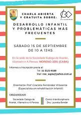 Charla sobre desenvolvemento infantil, en Bos Aires