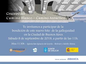 Inauguración do cruceiro do Camiño Branco - Camiño Antártico, en Bos Aires