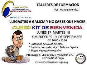 """Curso """"Kit de benvenida"""" de la Asociación Amigos de Venezuela en Vigo"""