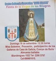 Festa en honor da Virxe das Milagres 2018, en Montevideo
