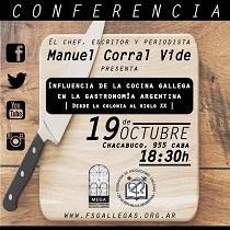 Conferencia de Manuel Corral Vide: 'Influencia de la cocina gallega en la gastronomía argentina', en Buenos Aires