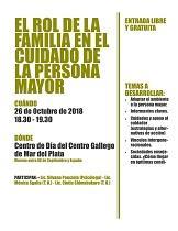Charla informativa 'O rol da familia no coidado da persoa maior', en Mar del Plata