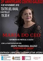Festival 25º aniversario do Centro Galego de Castelló, con María do Ceo