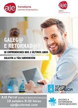 Charla informativa sobre as axudas ao retorno emprendedor da Secretaría Xeral da Emigración, na Asociación de Jóvenes Empresarios de Ferrolterra