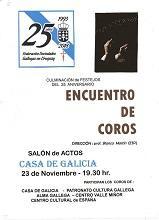 Encontro de coros 25º aniversario da Federación de Sociedades Gallegas en Uruguay