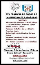 XIV Festival de coros de instituciones españolas, en Montevideo