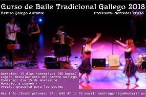 Curso de baile tradicional galego, en Alacant