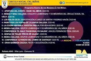 La Noche de los Museos 2018, no Val Miñor de Bos Aires