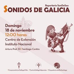 """Concerto """"Sonidos de Galicia"""", en Santiago de Chile"""