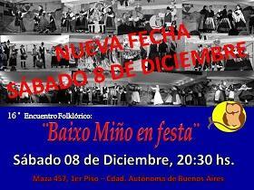 XVI Encuentro Folclórico 'Baixo Miño en festa' - 2018, en Buenos Aires