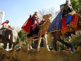 Chegada dos Reis Magos ao Centro Galego de Hamburgo