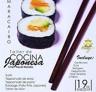 Taller de cociña xaponesa, no Centro Gallego de Maracaibo