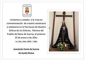 Misa polo centenario da Asociación Navia de Suarna en Bos Aires