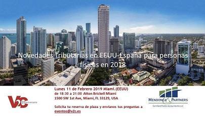"""Sesión informativa """"Novedades tributarias en EE.UU. - España para personas físicas"""", en Miami"""