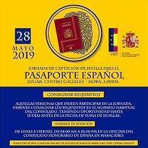 Xornada 2019 de captación da pegada dixital para o pasaporte español, en Maracaibo