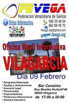 Oficina informativa móbil de FEVEGA, en Vilagarcía de Arousa