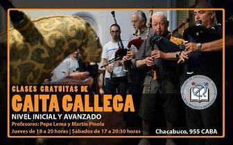 Clases de gaita gallega 2019, en la Federación de Asociaciones Gallegas de la República Argentina