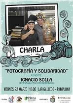 """Charla """"Fotografía y solidaridad"""", no Lar Galego de Pamplona"""
