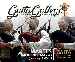 Clases de gaita galega 2019 do Centro Galego de Rosario