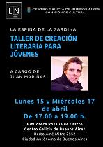 Taller de creación literaria, a cargo de Juan Mariñas, en el Centro Galicia de Buenos Aires