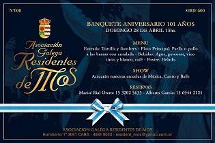 101º Aniversario da Asociación Galega Residentes de Mos en Bos Aires