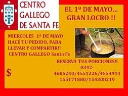 Gran locro del 1º de mayo del Centro Gallego de Santa Fe
