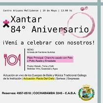 84º aniversario do Centro Arzuano Melidense de Bos Aires