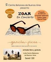 """Concierto de Zoar """"Interpretando a García-Picos"""", en el Centro Betanzos de Buenos Aires"""