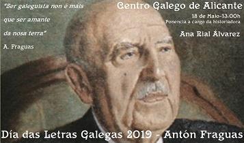 Día das Letras Galegas 2019 en Alacant