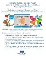 """Ciclo de """"Encontros coa lingua galega - Temos que falar"""", en La Plata"""